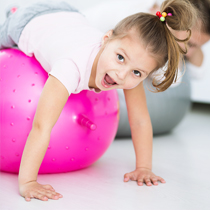 Our fun gym is part of our occupational therapy services at Growing Up Therapy